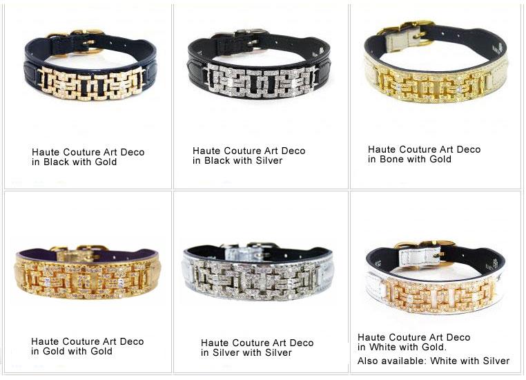 Custom Made Haute Couture Leather Designer Dog Collars