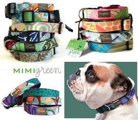 mimi green designer collars for dogs