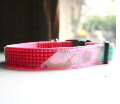 Mimi Green Pink Designer Dog Collar Molly Collar Amp Leash
