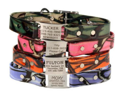 waterproof camouflage dog collars